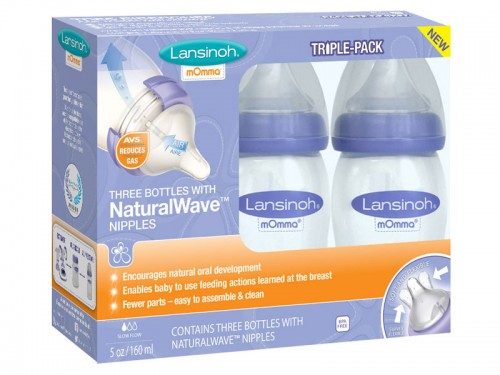 Lansinoh® mOmma® Bottle with NaturalWave™ Nipple